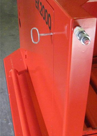 secured battery compartment door