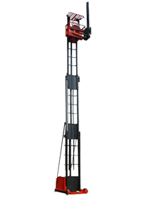working at 60 feet or closer to the ground specially designed mast offer stability and safety